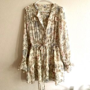 TOBI Ruffle mini dress